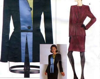 Vogue American Designer 2045 by Geoffrey Beene Misses' Jacket and Skirt Sewing Pattern - Uncut - Size 8, 10, 12