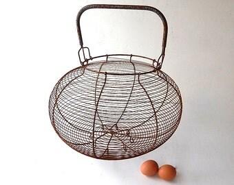 Enormous French Vintage Egg Gathering Basket