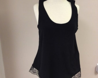 New black relaxed fit t-shirt - L