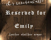 Leather armor - RESERVED for Emily