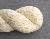 Cotton Linen Blend Recycled Yarn, Heavy Lace Weight, Cream