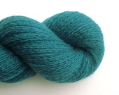 Lace Weight Recycled Cashmere Yarn, Teal Green, 780 Yards, Lot 100416
