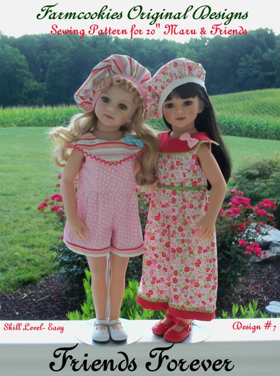"PDF Sewing Pattern: FRIENDS FOREVER for 20"" Maru & Friends"