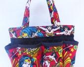 LAST ONE Wonder Woman in red Bingo Bag // Craft Organizer // Makeup Organizer // Caddy // Teacher Tote // Nurse Tote