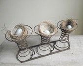 Reserve Listings for Finch  Lover Rusty Car Seat Springs , Salvaged Springs on Rails , Vintage Home Decor , Rustic Farmhouse Cottage Chic