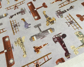 Aircraft model etsy for Airplane print cotton fabric