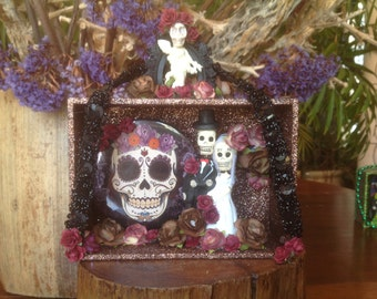 Day of the Dead Nicho/Shrine/Cake Topper/Altar Piece.