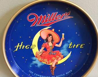 1960s Miller High Life Beer Tray