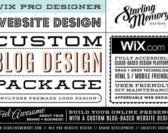 New CUSTOM WIX BLOG Website Design Package - Custom Blog Website Design Package - Custom Wix Blog WebDesign Package - Wix Pro Design Service