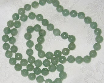 Green Adventurine Bead Necklace