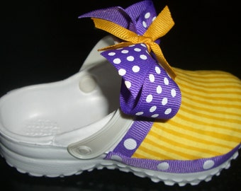 Purple and Gold Toddler Shoe