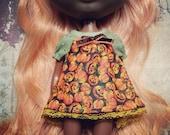 REDUCED ~~ Shirt for Neo Blythe doll ~~ Jack'o'lanterns Pumpkin Heads