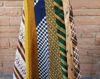 Vintage Tie Maxi Skirt