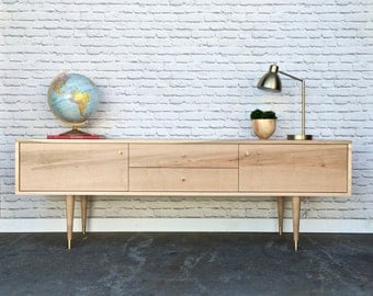 "Rochdale Credenza / Media Stand 72"" - Brown Maple -In Stock!"