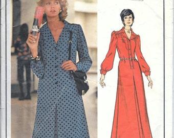 Vintage 70s Vogue 2728 Yves Saint Laurent Paris Original DRESS Sewing Pattern Size 10 Bust 32.5 Evening Or Day