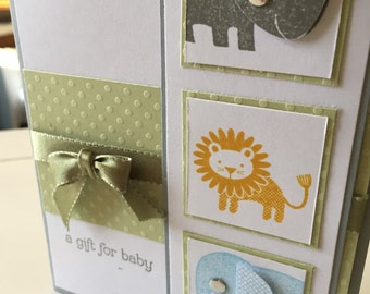 Animal Baby Card, Stampin Up