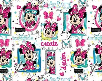 Springs Creative - MINNIE WINDOWS - Minnie Mouse Cotton fabric