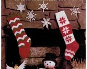Leisure Arts Christmas Designs to Knit and Crochet Stockings, ornaments, angels, snowflakes