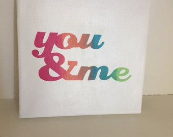 You & Me canvas painting