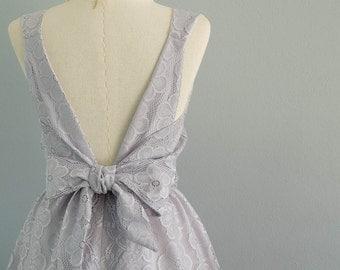White gray dress gray lace dress gray party dress gray prom dress gray cocktail dress backless dress gray bridesmaid dresses lace dress