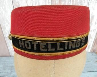 Vintage  Hotelings , bell boy hat , hotel cap , Charming .....