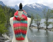 Ladies Handmade Infinity Scarf Cowl in Bright Colors - Unforgettable Parrot