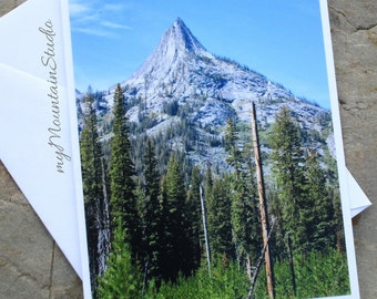 Mountain Spire Photo Note Card. Montana Nature Photography. Ready to Ship.