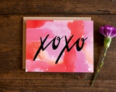 Valentine's day card - I love you - xoxo - valentines day card - love