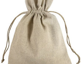 Linen Bags - 8X10 Linen Bags - 12 Natural Linen Bags - Special Occasion Bag - Jewelry Gift Bag