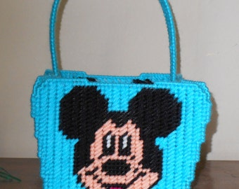 Mickey Mouse Easter Basket Plastic Canvas Pattern