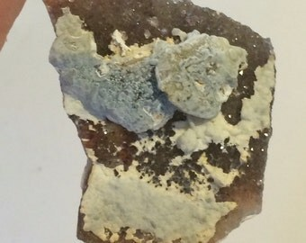 Funky Brazillian Amethyst Chalcedony Hybrid Cluster. Great Color!