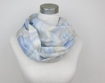 pastel Serenity rainbow Scarf, Thin Cotton Scarf in Peach Blue Gray Pantone 2016 colors Thin Cotton Fabric Scarves