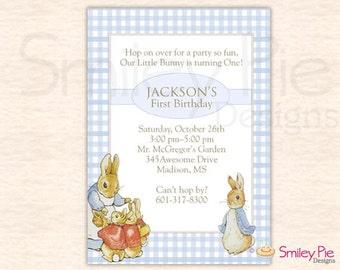 Peter Rabbit Birthday Invitation - Boy
