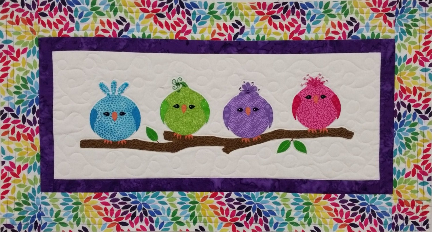 KIT: Sittin Pretty Wall Hanging Quilt Pattern and KIT