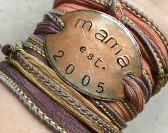 mom gift, mom jewelry, mom established bracelet, mother's day gift, wife gift, mama, momma, Mother's Day, mum, mother jewelry, mom est.