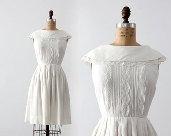 SALE vintage 60s white party dress by Candy Jrs.