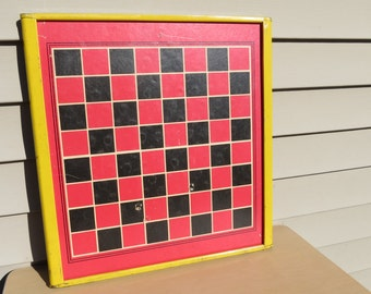 Vintage Metal Frame Chinese Checker Board.