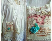 Shabby chic bag pouch to hold cell phone iphone, pink romantic lace bag, cell phone iphone ipod small bag neck pouch s3