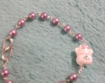 Lucky kitty bracelet