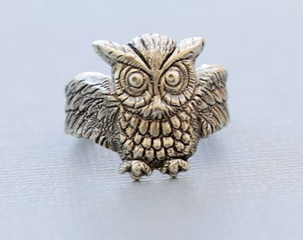 Owl Ring, Silver Ring,Jewelry Gift, Ring,Silver,Flower,Antique Ring,Silver Ring,Blossom,Wedding,Bridesmaid.