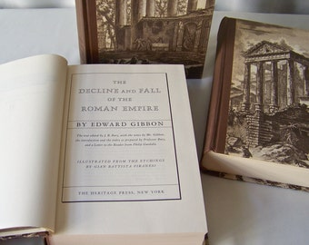 Vintage Decline And Fall Of The Roman Empire 3 Volume Set By Edward Gibbon Heritage Press 1946