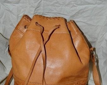 On Sale Vintage handbag~American West leather Bag~Hand Made Leather Satchel~Leather Bag