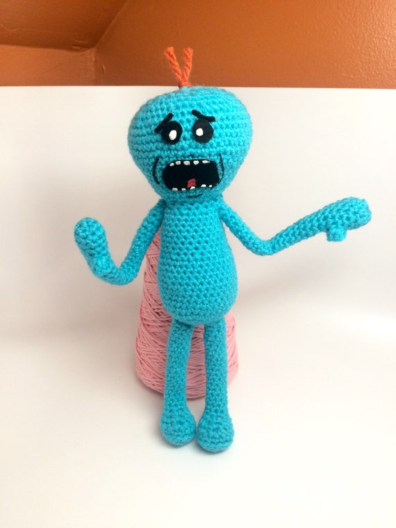 Amigurumi Rick And Morty : Crochet Mr. Meeseeks Plush Toy / Rick and Morty by ...