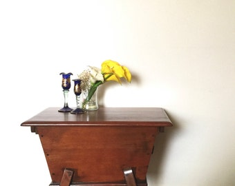 Vintage End Table. Small End Table. Storage Side Table. Magazine Table.Accent Table