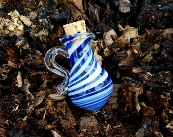 Tiny Cobalt Blue Glass Oil/Ash Jar/Vessel, Ready to Ship