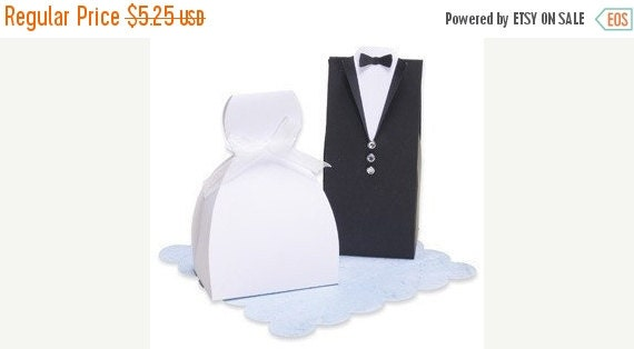 End of Summer Bride and Groom Wedding Favor Box Set