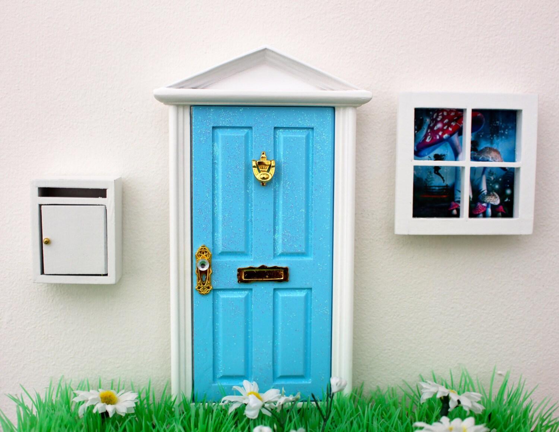 Opening Blue Elf Door Mail Box And Window