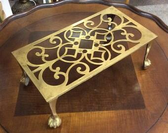 Brass trivet, Plant Stand, Tea Pot Rest, Mini Stool, Book Rest Victorian Ornate