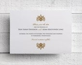Gold Save the Date Formal Save the Date - Sample