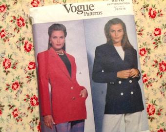 Vintage Vogue Pattern 8518, jacket pattern, 90's pattern